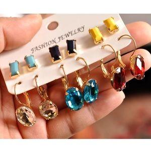 6 pairs earrings set